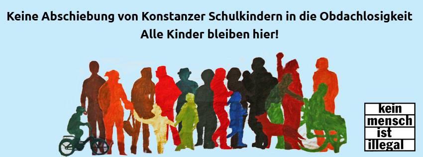 Keine Abschiebung von Konstanzer Schulkindern in die Obdachlosigkeit
