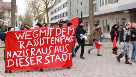 Demonstration gegen NPD-Aufmarsch am 28.2. in Singen
