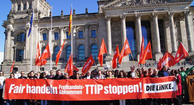 Die Linke - TTIP-Demo Berlin
